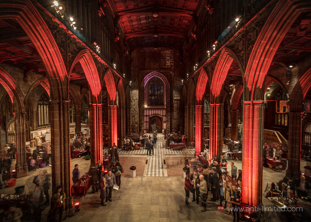 Manchester Cathedral is the home of Hangingditch's annual wine fair