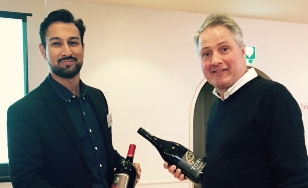CellarVino director of sales Ishwinder Binning with director of Connoisseur Estates Andrew Steel